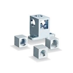 Thread cubes for aluminium profile mounting
