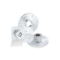 Flange plates for level sensors