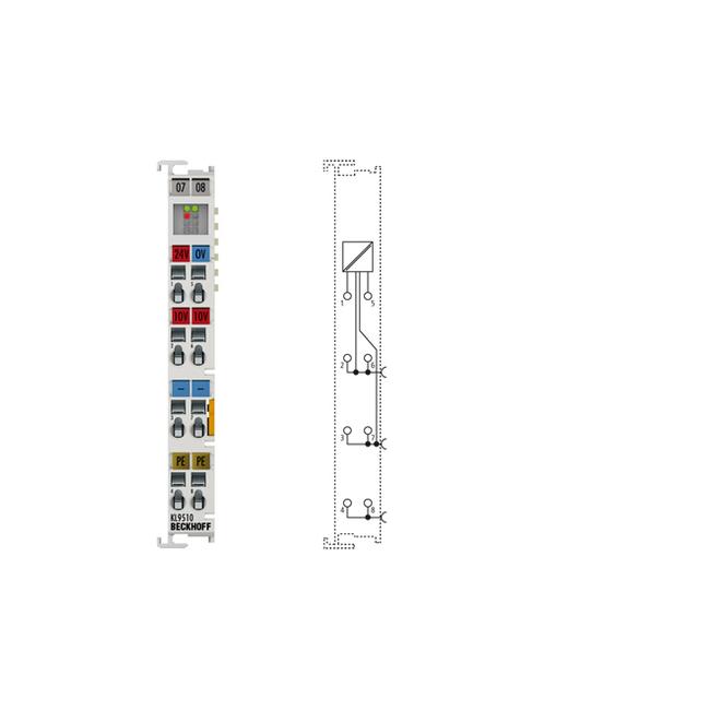 NEW ; POWER SUPPLY TERMINAL WITH DIAGNOSTICS 24 V DC BECKHOFF EL9110