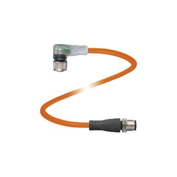 Pepperl+Fuchs Connection cable V1-W-E8-OR1M-PUR-A-V1-G