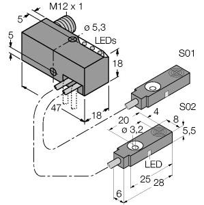 Turck BI2-Q5,5-0,27-BS-2AP6X3-H1141/S34