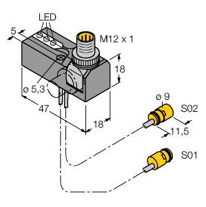 Turck NI2-K09-0,095/0,11-BDS-2AP6X3-H1141/S34