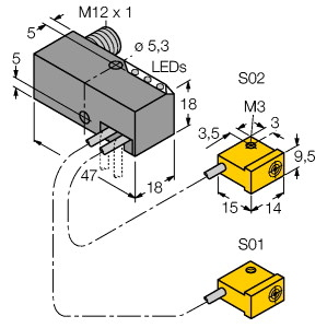 Turck NI2-Q9,5-AP6-0,2-FS4.4X3/S304