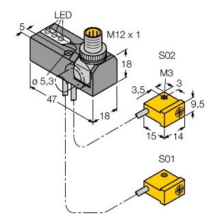 Turck NI2-Q9,5-0,1-BDS-2AP6X3-H1141/S34