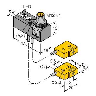 Turck NI2-Q6,5-0,04/0,1-BDS-2AP6X3-H1141/S34