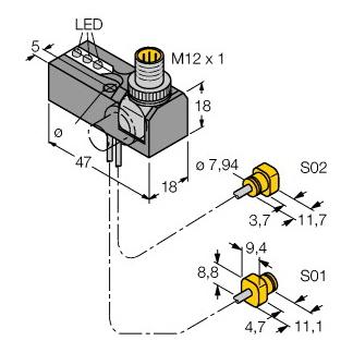 Turck NI2-K08Q-0,095/0,11-BDS-2AP6X3-H1141/S34