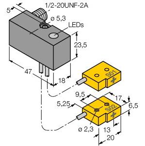 Turck NI2-Q6,5-ADZ32-0,1-FSB5.4X4/S304