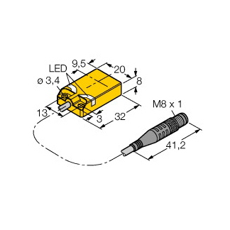 Turck NI10U-QP08-AP6X2-0,3-PSG3M