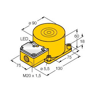 Turck NI60-K90SR-VP4X2