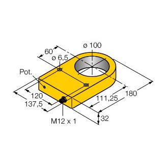 Turck NI100R-S32XL-2LU-H1141/S950
