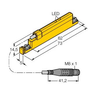Turck WIM45-UNTL-LIU5X2-0,3-PSG4M