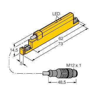 Turck WIM45-UNTL-LIU5X2-0,3-RS4