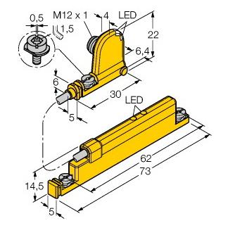 Turck WIM45-UNTL-0,3-BIM-UNT-LUAP6X4-H1141