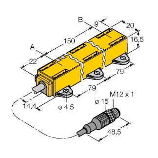 Turck LI150P1-Q17LM1-LIU5X2-0,3-RS5