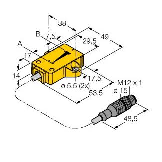 Turck LI25P1-QR14-LIU5X2-0,3-RS4