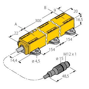 Turck LI300P1-Q17LM1-LIU5X2-0,3-RS5