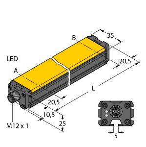Turck WIM160-Q25L-LI-EXI-H1141
