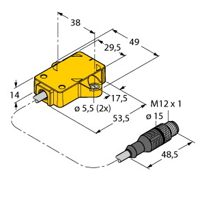 Turck RI360P1-QR14-ELIU5X2-0,3-RS5