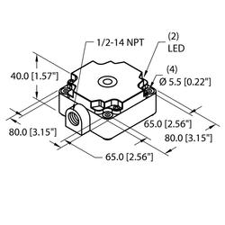 Turck NI40-CP80-VP4X2/F2-S10